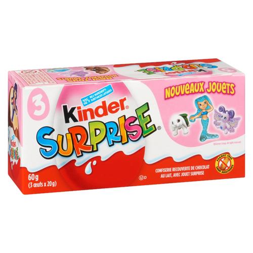 Kinder Surprise Peanut Free Milk Chocolate With Toy 60 g