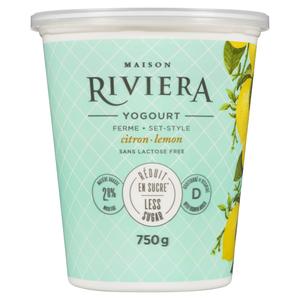Riviera Less Sugar Yogurt Lemon Set Style 750 g