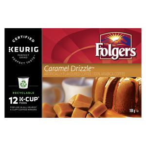 Folgers Caramel Drizzle Coffee 12 K-Cups 108 g