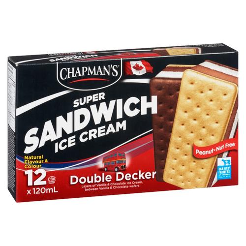 Chapman's Double Decker Super Sandwich Ice Cream 12 x 120 ml