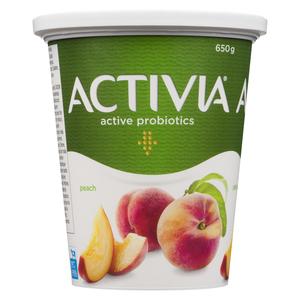 Activia Peach Yogurt 650 g