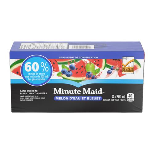 Minute Maid No Sugar Added Juice Watermelon Blueberry 8 x 200 ml