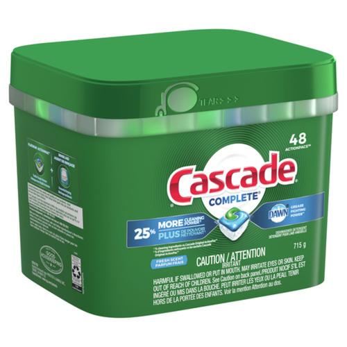Cascade Complete Dishwasher Detergent Fresh Scent 48 ActionPacks