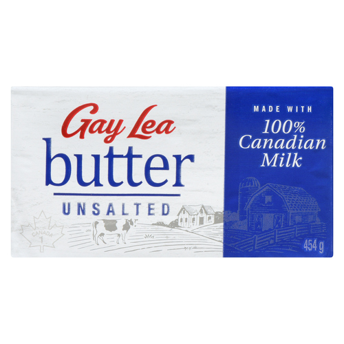 Gay Lea Unsalted Butter 454 g