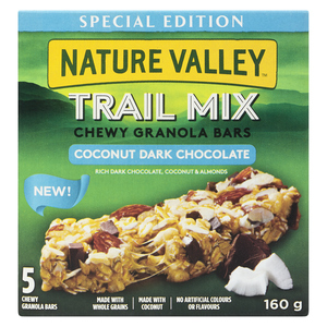 Nature Valley Trail Mix Chewy Granola Bar Coconut Dark Chocolate 160 g