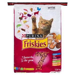Friskies Dry Cat Food 7 Flavour 7.26 kg