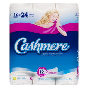 Cashmere Double Roll 2-Ply Bathroom Tissue 242 Sheets 12 Rolls