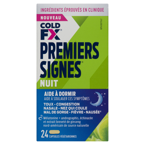 Cold-FX First Signs Night Cold Medicine 24 Capsules