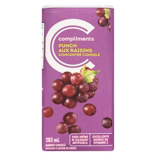 Compliments Frozen Juice Grape Punch 283 ml