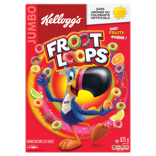Kellogg's Froot Loops Cereal Jumbo 825 g