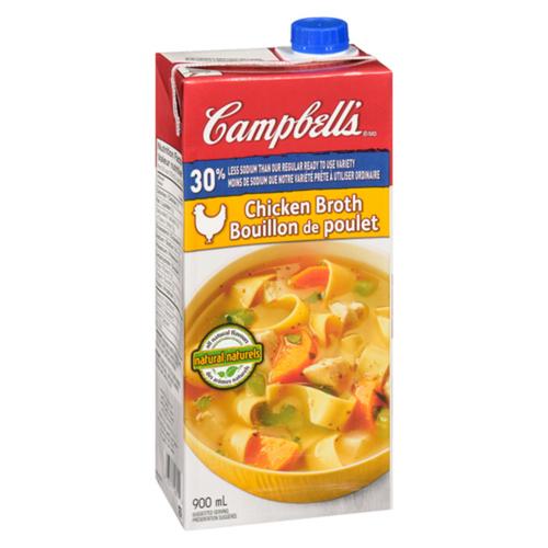 Campbell's 30% Less Sodium Chicken Broth 900 mL
