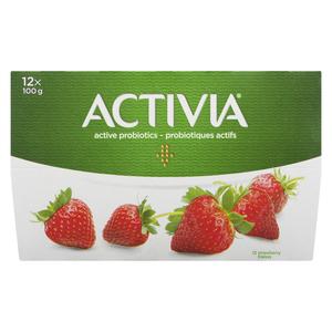 Activia Strawberry Yogurt 12 x 100 g