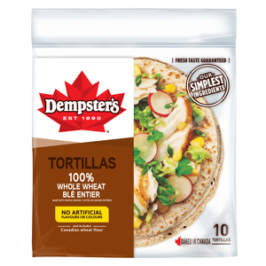 Dempster's Whole Wheat Tortillas 7-inch 10 Pack 340 g