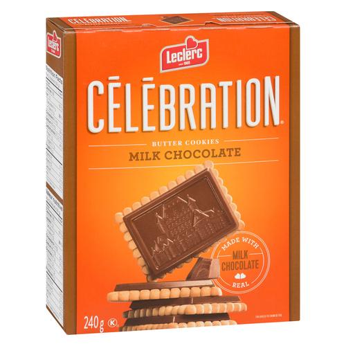 Leclerc Celebration Milk Chocolate Butter Cookies 240 g