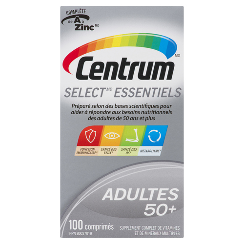 Centrum Select Essentials Adults 50+ 100 Tablets
