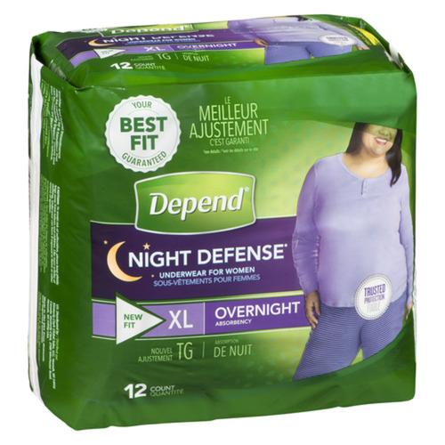 Depend Overnight XL Women's Underwear 12 Count