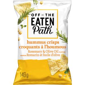 Off the Eaten PathHummus Crisps Rosemary & Olive Oil Snacks 149g
