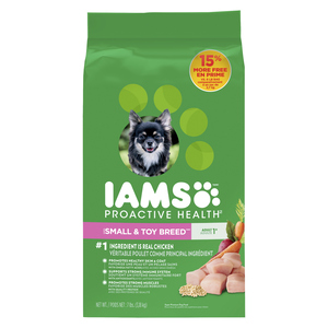 IAMS Chicken and Whole Grains Recipe Small Breed Adult Dry Dog Food 3.18 kg