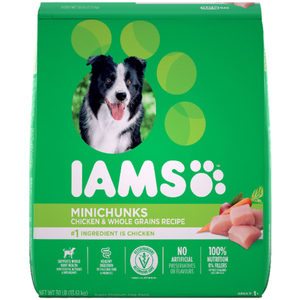Iams Minichunks Chicken and Whole Grains Adult Dry Dog Food 13.6kg