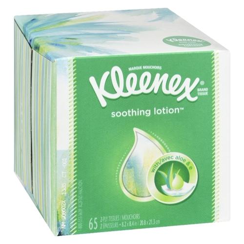 Kleenex Facial Tissue Soothing Lotion 65 Sheets 1 EA