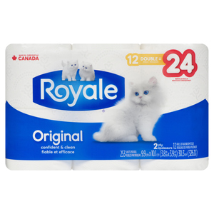 Royale Bathroom Tissue 2 Ply 253 Sheets 12 Double Rolls