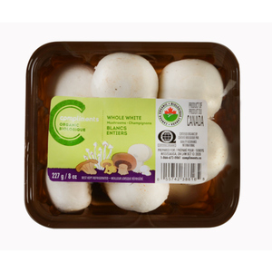 Compliments Organic Whole White Mushrooms 227 g
