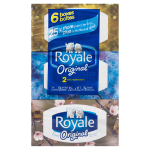 Royale Facial Tissues 2 Ply 126 Sheets Per Box 6 Boxes