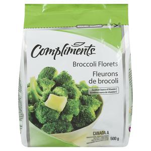 Compliments Broccoli Florets Frozen Vegetables 500 g