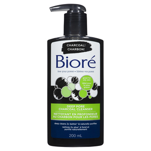 Biore Deep Pore Charcoal Cleanser 200 ml