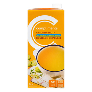 Compliments Broth No Salt Added Chicken 900 ml
