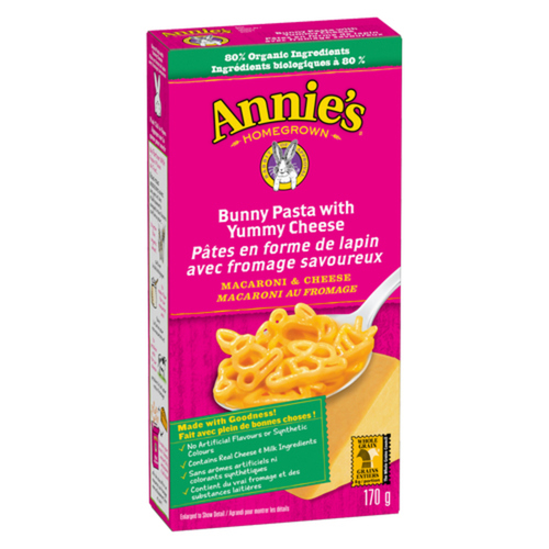 Annie's Homegrown Bunny Pasta With Yummy Cheese 170 g