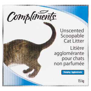 Compliments Scoopable Cat Litter Unscented 15 kg