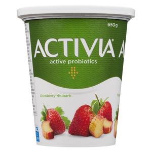 Activia Strawberry Rhubarb Yogurt 650 g