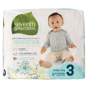 Seventh Generation Stage 3 Baby Diapers 31 EA