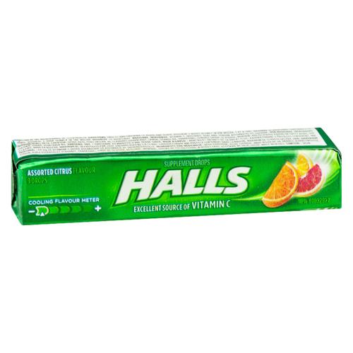 Halls Defense Vitamin C Lozenges Assorted Citrus 9 EA