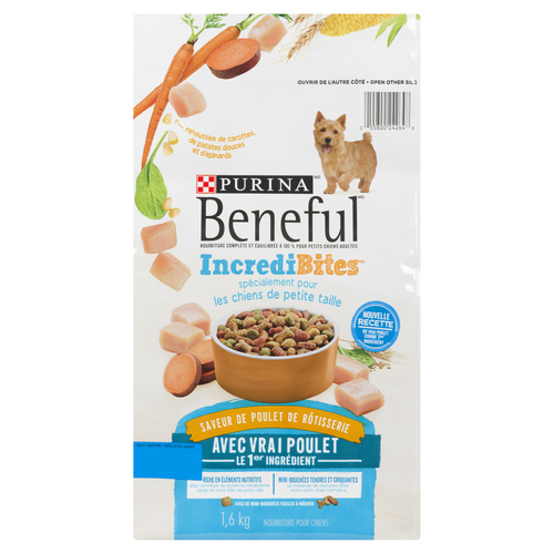 Beneful Incredibites Rotisserie Chicken Dry Dog Food for Small Dogs 1.6 kg