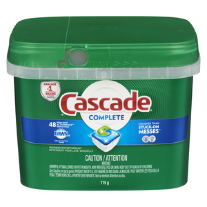 Cascade Complete Action Packs Dishwasher Detergent Fresh Scent 48 EA
