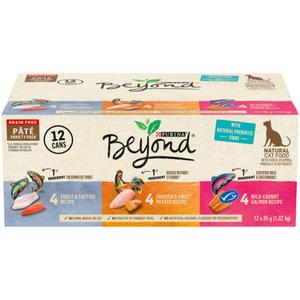 Beyond Grain Free Wet Cat Food Variety Pack, Pate 85 g (12 Pack)