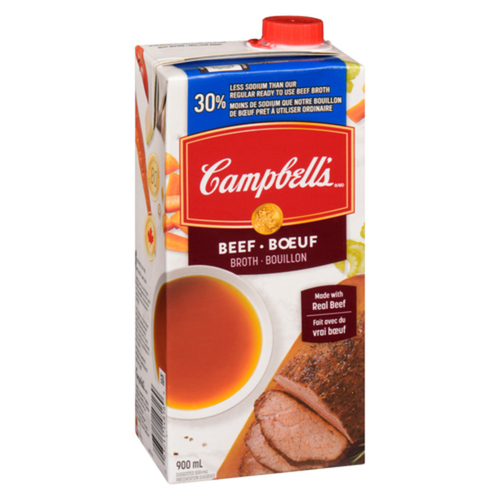 Campbell's 30% Less Sodium Beef Broth 900 mL