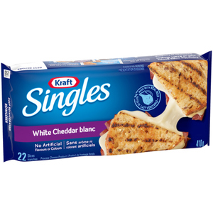 Kraft Singles White Cheddar Cheese Slices 22 Pack 410 g