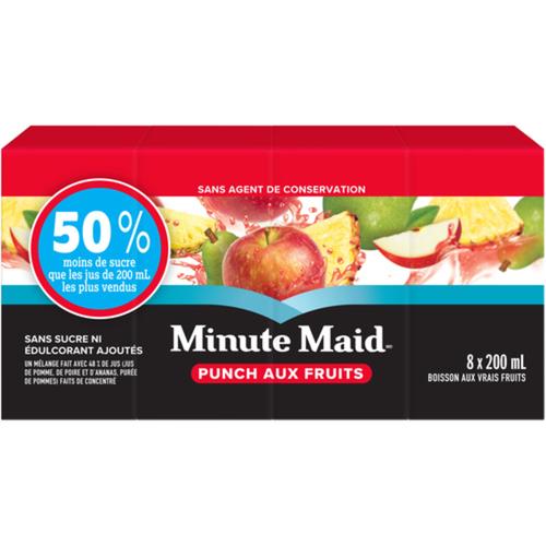 Minute Maid No Sugar Added Fruit Punch 8 x 200 ml