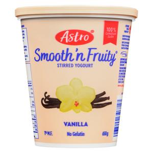 Astro Smooth & Fruity Stirred Yogurt Vanilla 650 g