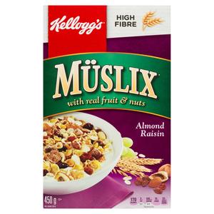Kellogg's Almond Raisin Muslix Cereal 450 g