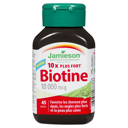 Jamieson Biotin Supplement 10000 mcg Softgels 45 EA