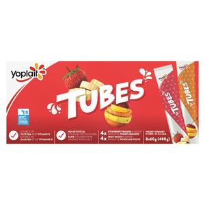 Yoplait Fruit Punch Strawberry Banana Yogurt Tubes 8 x 60 g