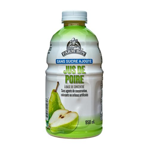 Farm Boy No Sugar Added Juice Pear 950 ml