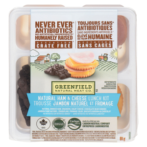 Greenfield Natural Meat Co Natural Ham & Cheese Lunch Kit 81 g