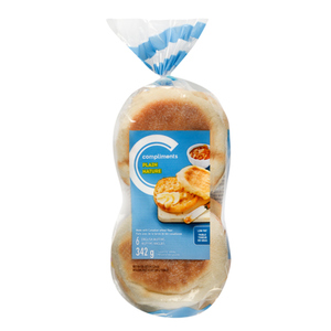 Compliments Plain English Muffins 6 Pack 342 g