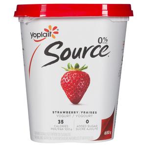 Yoplait Source Strawberry Yogurt 650 g