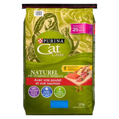 Purina Cat Chow Vitamin & Minerals Chicken & Salmon Cat Food 5.9 kg